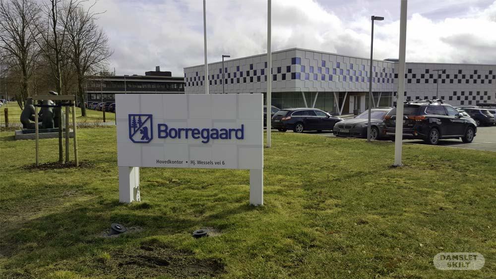Bakkeskilt til Borregaard