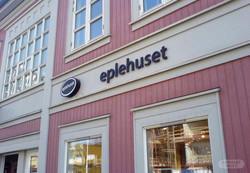 Fasadeskilt til Eplehuset