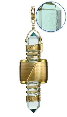 Aqua Siberian Quartz - Gold