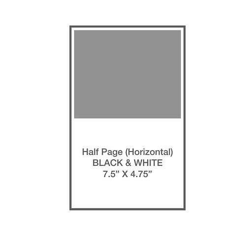 Half Page, Horizontal, B&W