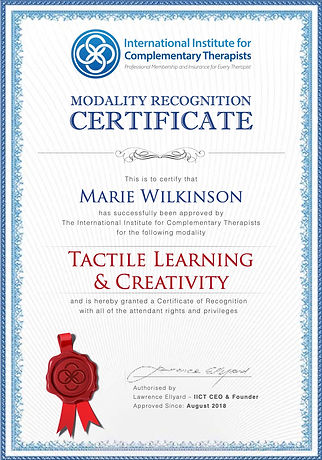 Modality Certificate Tactile Learning &