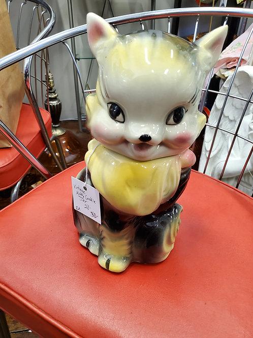 Cute Vintage Kitty Cat Cookie Jar