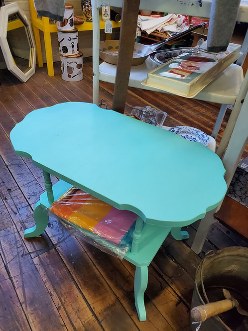 Upcycled Aqua Painted Vintage Table