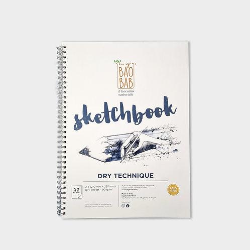 Sketchbook A4 dry