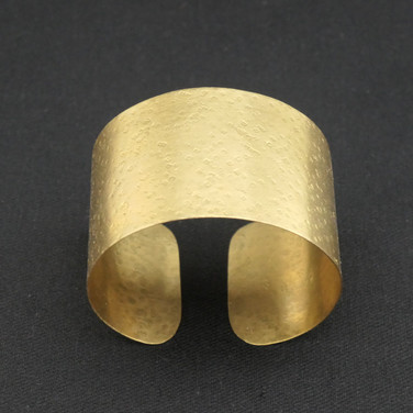 Textured Brass Cuff Bracelet