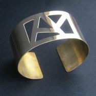 Brass cuff necklace