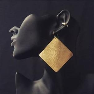 Golden Geometry Brass Earrings