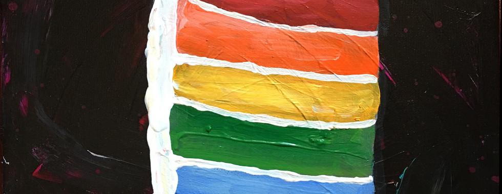 Rainbow Cake 6 Layer