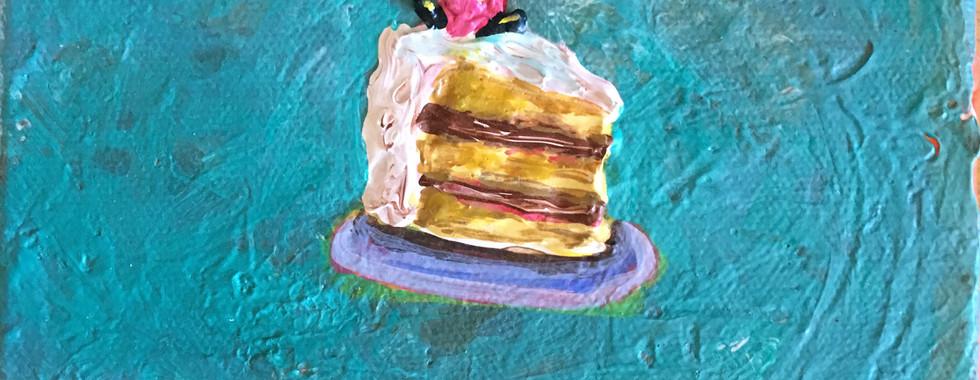 Yellow Cake w/ Chocolate Filling