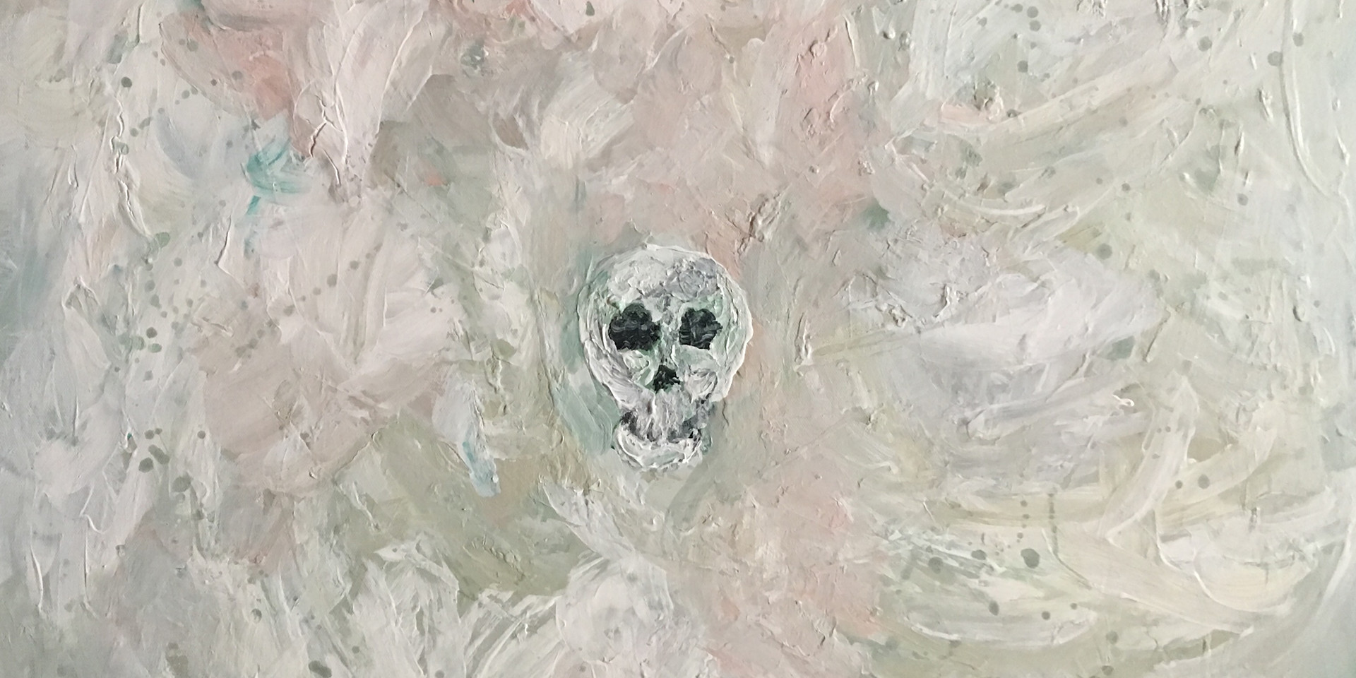 Skull in White Void