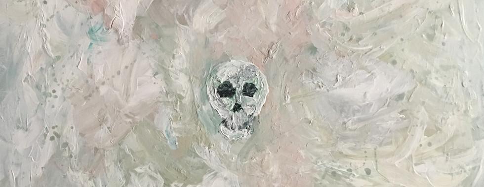 Skull in White Void
