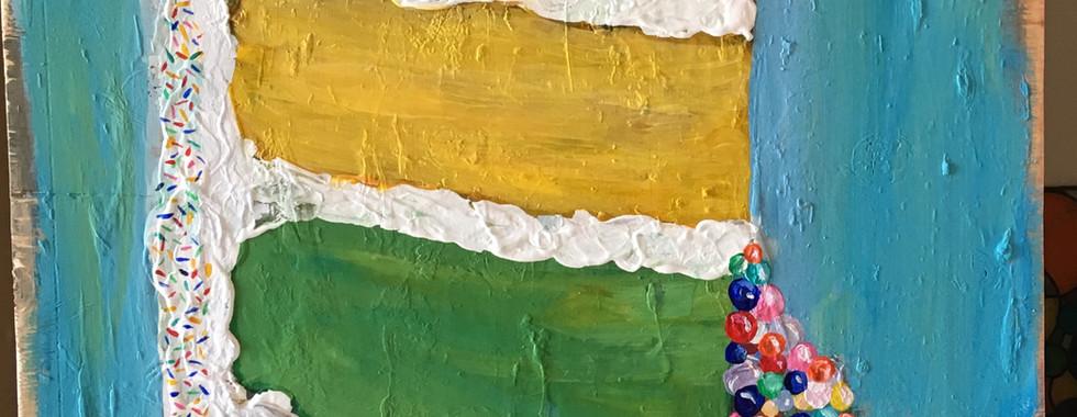 Rainbow Cake with Jawbreaker