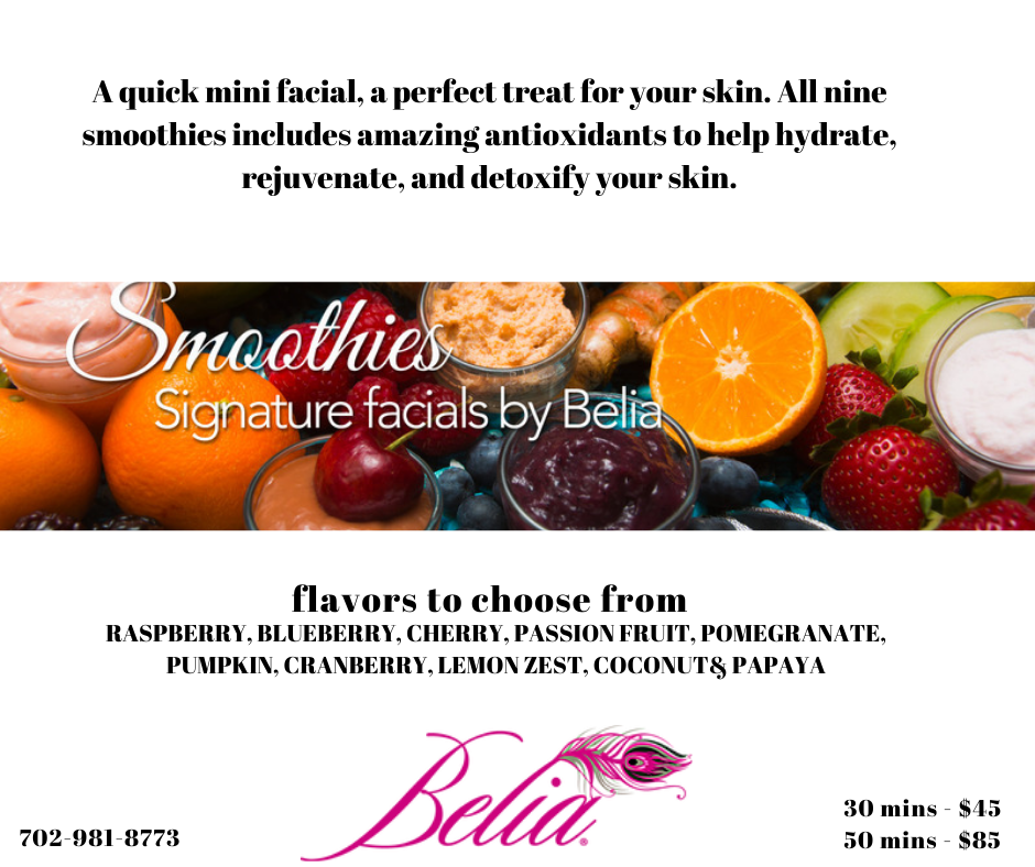 Get Smoothie Facial to Hydrate your skin in Las Vegas