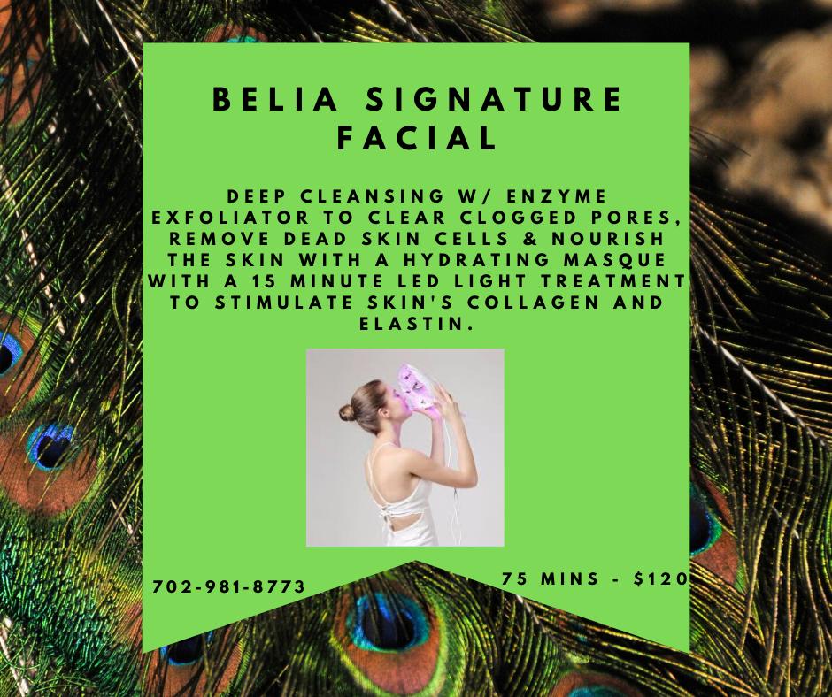 Belia Signature Facial to Stimulate Skin Collagen and Elastin