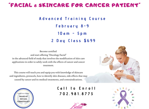 """""""Facial & Skincare for Cancer Patient"""" Training Certification"""