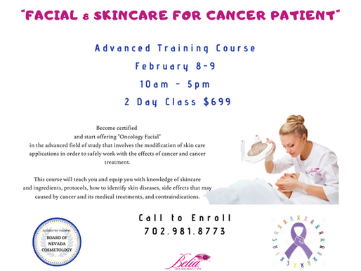"""Facial & Skincare for Cancer Patient"" Training Certification"