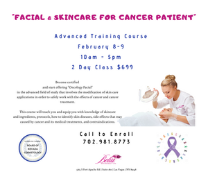 Facial and Skincare Training Course, Accredited  by Board of Nevada Cosmetology