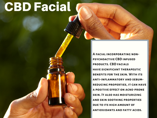 Why should you get a CBD facial?  CBD has anti inflammatory properties and positive effect on acne!