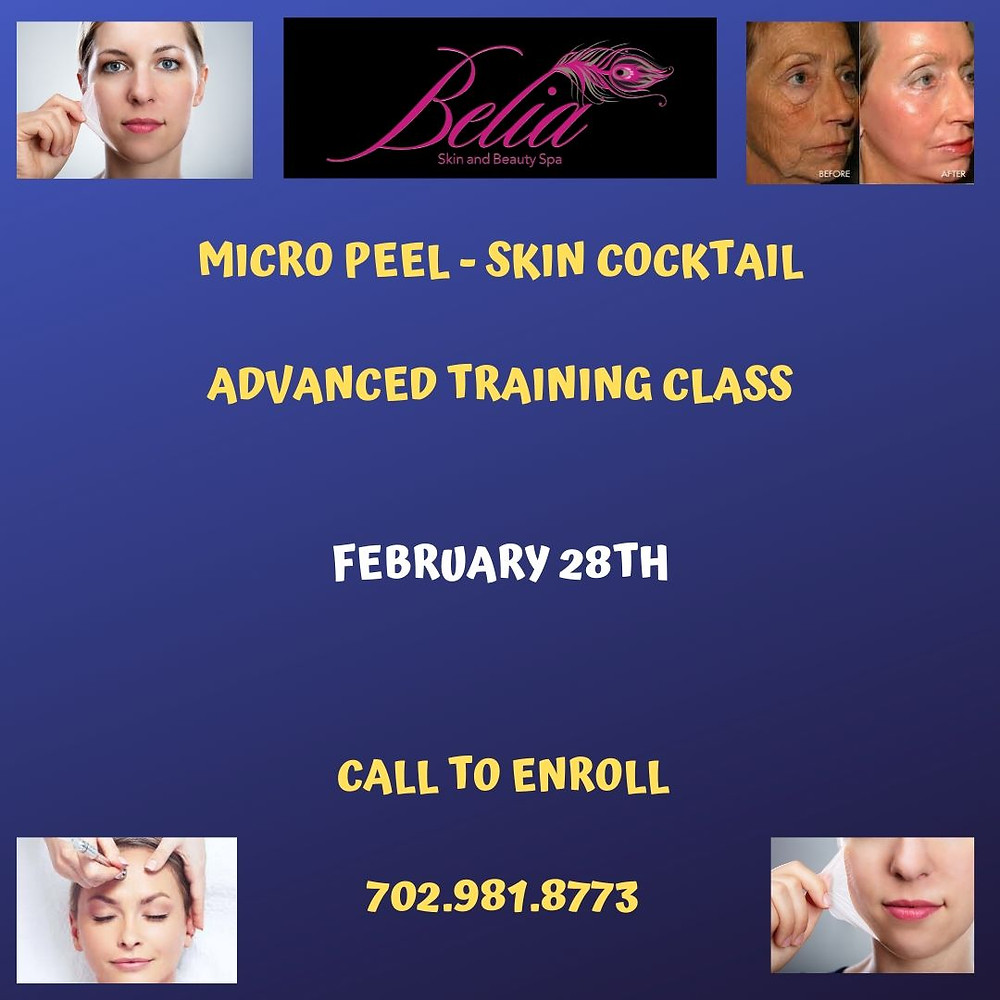 This training is hands on and you will learn to perform skin cocktail - microdermabrasion in combination with different chemical peels.
