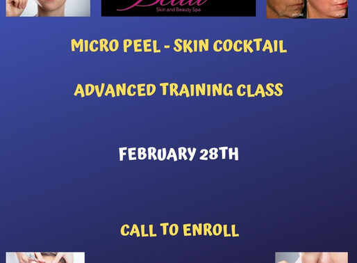 Micro Peel _ Skin Cocktail Advanced Training Class