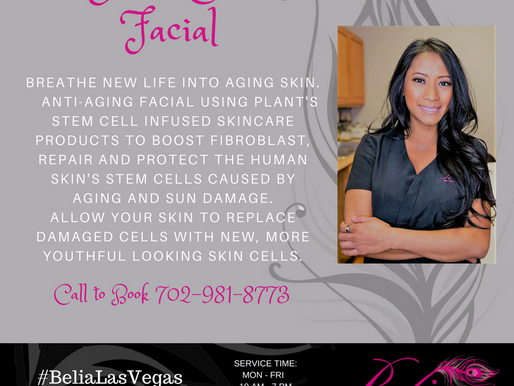 Stem cell facial as Antiaging treatment
