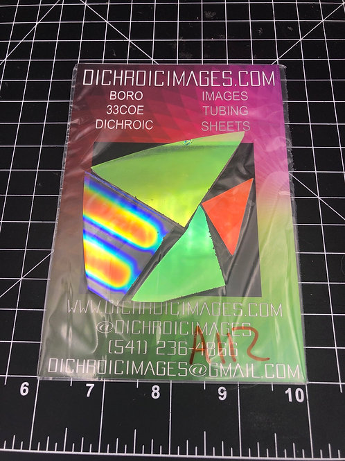 Dichroic Sheet Scraps 112
