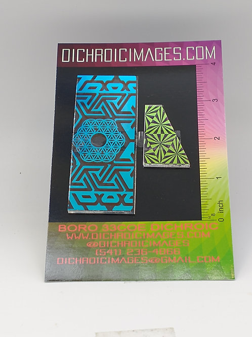 Dichroic Pattern Pieces 1oz M108
