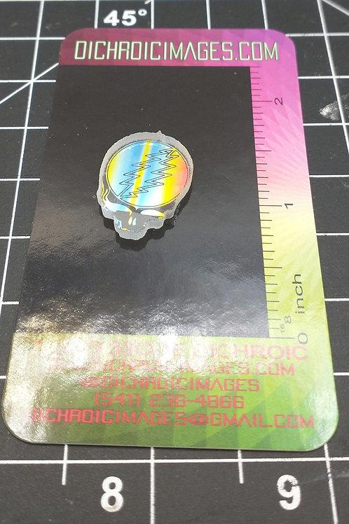 Water Jet Dichroic Image Skull W-64