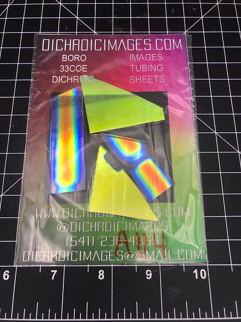 Dichroic Sheet Scraps 114