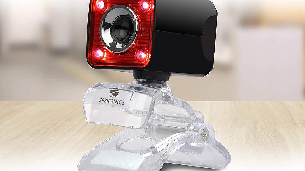Zebronics Zeb-Crystal Pro Web Camera with Bulit-in Mic USB Powered