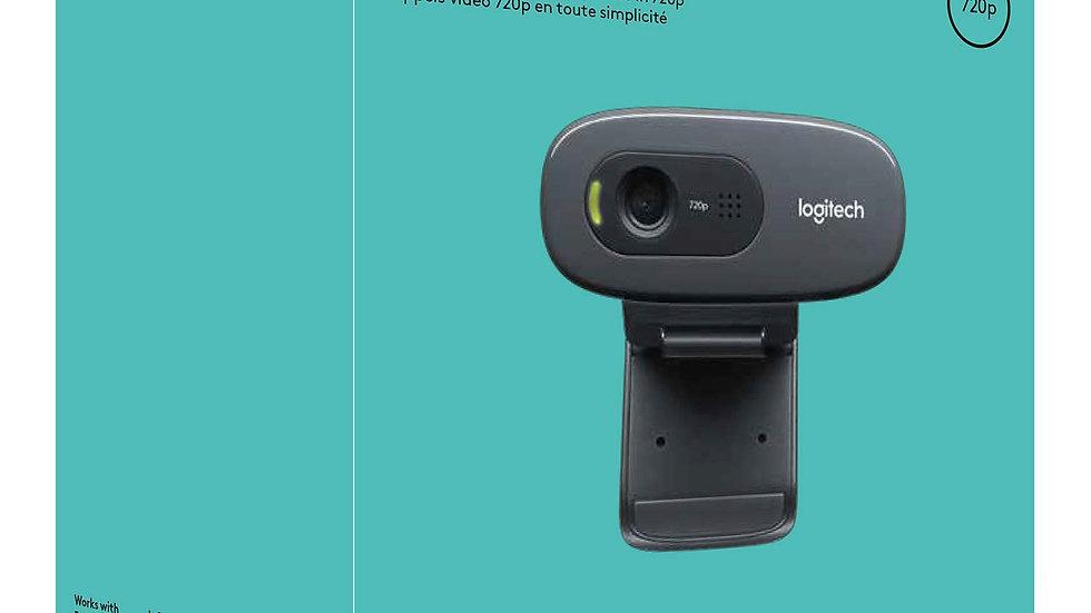 Logitech C270 HD Webcam, HD 720p/30fps, Widescreen HD Video Calling, HD Light