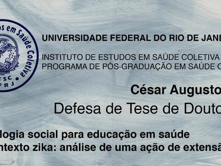 Defesa de Tese de Doutorado de César Augusto Paro