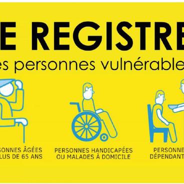 Mise en place d'un dispositif de recensement des personnes à risques