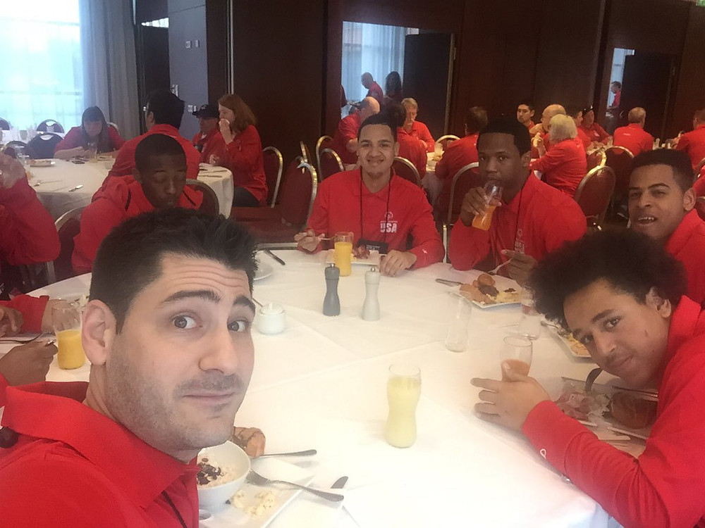 Team USA first day breakfast