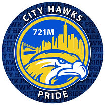 721M City Hawks school logo of