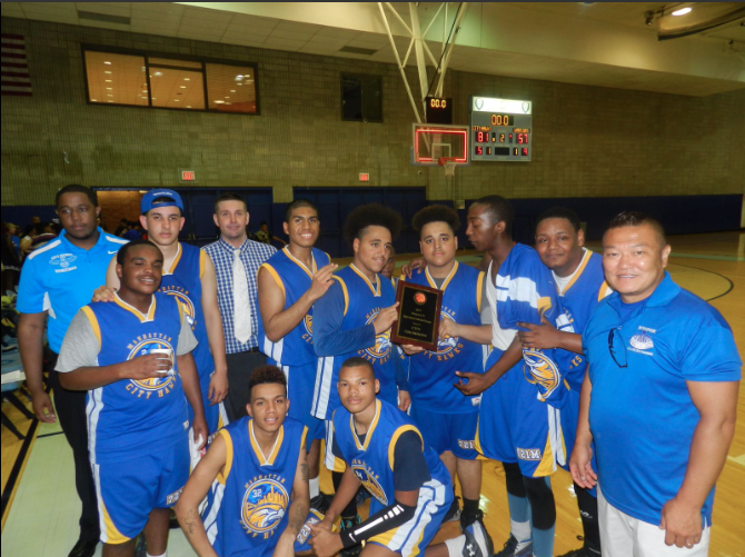 team and plaque