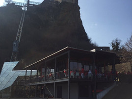 Team USA gets private tour of Riegersburg castle.