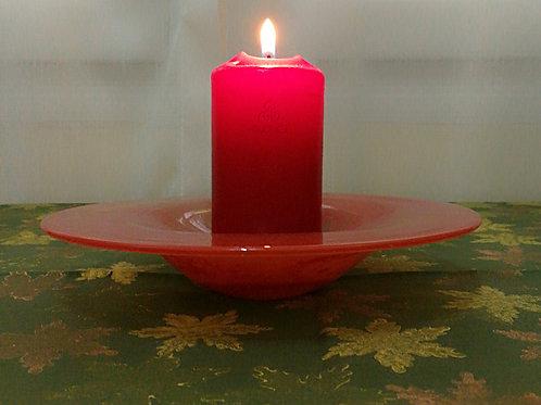 Handblown Red Glass Rim Bowl
