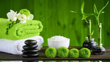 SPA-theme-towel-green-flowers-bamboo-sto
