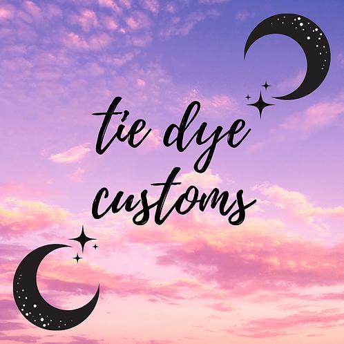 custom tie dye deposit