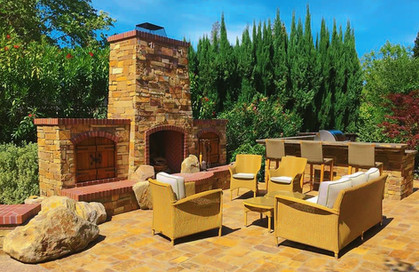 Sunny Outdoor Living Patio Kitchen