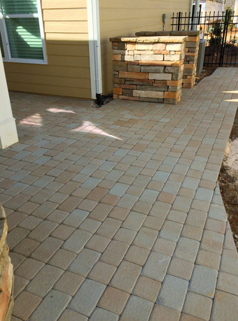 Backyard Stone Paver Patio