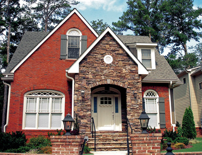 Brick and Stone Cottage Entry