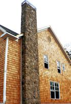 Chimney Upgrade Against Cedar Siding