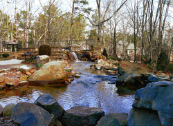 Personal River with Boulders and Fountain