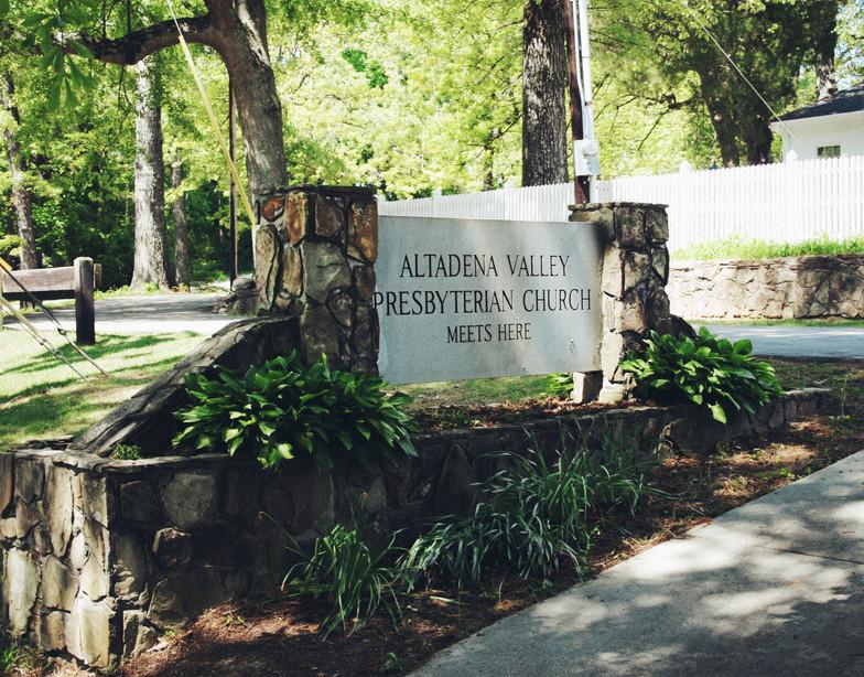 Stone Church Entrance Sign