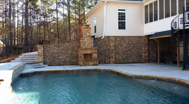 Pool with a Fireplace