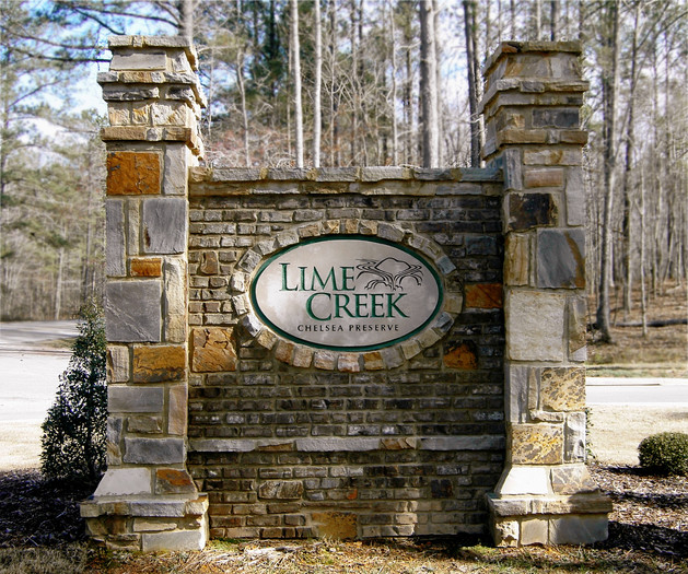 Custom Business Stone Entry Sign