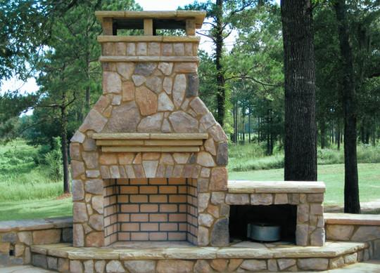 Fireplace Patio Stone Brick Block IDea C