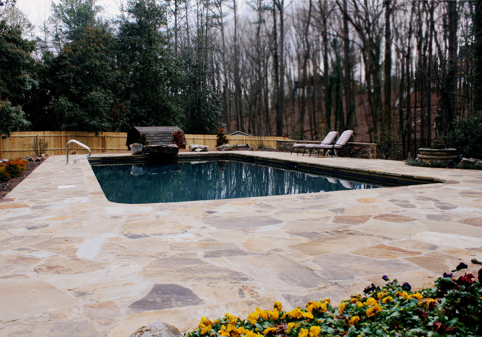 Natural Stone Pool Patio